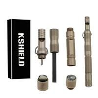Kshield Multifonction Extérieur Survie Outil Pierrafeu avec Fire Stick Compas