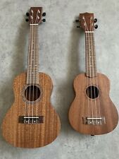 RRP£210 Pair of ( 2 )  Flight Soprano Aloha Concert Acoustic Model Ukulele + Bag