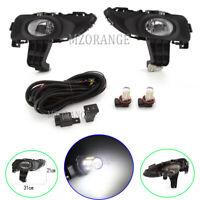 LED Left & Right Front Fog Light Lamp Wiring Kits For Mazda 3 BK Sedan 2003-2006