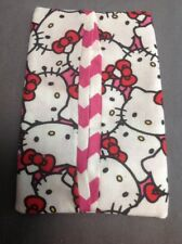 Hello Kitty Pink Chevron Cotton Color Fabric Kleenex Travel Tissue Pouch Holder