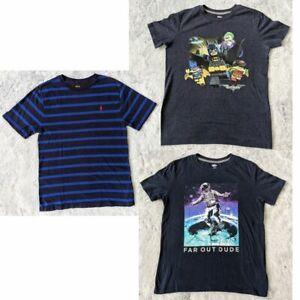 Boys Size LARGE (10-12) 3 Short Sleeve T-Shirt Bundle Polo Ralph Lauren Old Navy