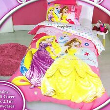 Disney Princess Make Your Own Destiny - Single/US Twin Bed Quilt Doona Cover Set