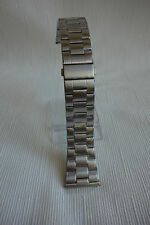 SOLID SUPER HEAVY DUTY STAINLESS STEEL WATCH BAND - COLOUR SILVER 24MM