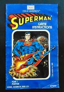 Atari 2600 Sears Tele Games Superman Game Manual Blue Variant