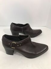 Thom McAn Brown Leather Bootie Size 9W
