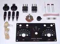 LOW-COST HIGH-PERFORMANCE Heathkit CR-1 crystal radio receiver repr. UNBUILT kit