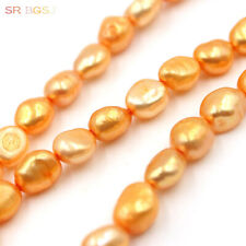 """Natural 8x10mm Orange Freshwater Pearl Bead Jewelry Making Spacer Strand 15"""""""