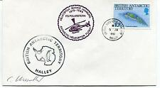 1986 British Antarctic Territory Helicopter Service Polar Antarctic Cover SIGNED