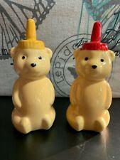 HONEY BEAR SALT & PEPPER SHAKERS NIB SET OF TWO