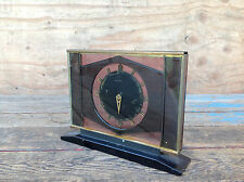 Very Cool Scarce Tavennes Tinted Glass Housing Clock - Needs Work