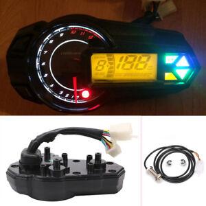 Motorcycle ATV UTV Digital Gauge Speedo Tacho Odo Meter Kmh Indicator 12000r/min