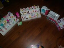LARGE Mixed Lot Shopkins Play Sets.4 lg furniture,4 dolls,111 food,sm furniture+