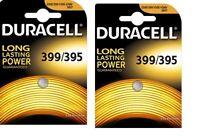 lot de 2 Piles D395-399  AG7 DURACELL bouton oxyde d'argent