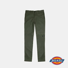 Dickies Men's Skinny Double Knee Work Pant Cotton Polyester Spandex Natural