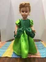 """Cinderella Drizella Inspired Dress Fits 19"""" Chatty Cathy Doll Clothes Green"""