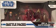 "JEDI VS DARTH SIDIOUS Star Wars 2008 Battle Pack ROTS 3.75"" Inch ACTION FIGURE"