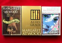 3 Margaret Atwood Books Robber Bride Alias Grace Surfacing Handmaid's Tale