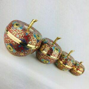 Collectable Brass Condiments Bowl Decorative Bowl with Lid Meenakari Work GIFT