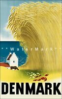 Denmark 1946 Northern Europe Vintage Poster Print Retro Style Travel Art