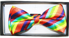 Classic BowTie Pure Plain Neckwear Adjustable Men's Bow Tie - Tuxedo (Pretied)