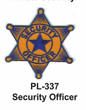"""SECURITY OFFICER(D) EMBROIDERED PATCHES 4"""""""