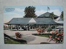 EARLY 1910'S  TROLLEY STATION,KINGSTON POINT PARK,KINGSTON,N.Y.(GOOD LUCK LOGO)