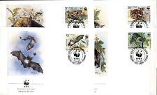 WWF  Fledermäuse. 4 FDC. Bulgarien 1989