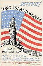 Original WPA Home Defense Day Poster New York Works Project Administration 1938