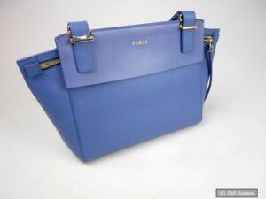 Furla Care Instructions 771768 Damen Tasche, Ledertasche, Echtleder in blau, NEU