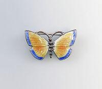 9901290 925er Silber emaillierte Brosche Schmetterling Jugendstil 1,5x3cm