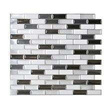 Smart Tiles SM1030-1 SELF-ADHESIVE WALL TILES 1/SHEET MURANO METALLIK 0.64 sq/ft