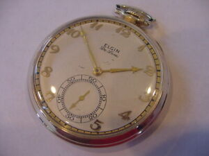 RUNNING STRONG 1940 BEAUTIFUL ELGIN MODEL 4 GRADE 495 AWESOME DIAL 10k GF!