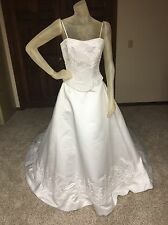 DaVinci  Wedding Dress Size 10 White Beaded Ballgown see details