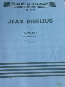 Sibelius - Romance - Violin Sheet Music - NEW