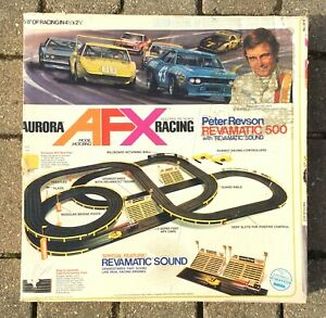 1973 Complete Peter Revson Revamatic 500 AFX Aurora Slot Car Set #2214 w/ Cars