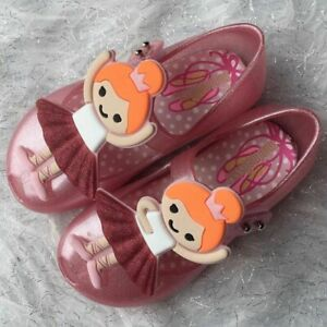 Mini Melissa Ballet Girls Sandals Toddler Kids Girls Jelly Shoes USA 6-11