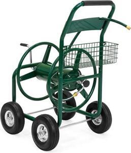 Springs 4 Wheel Portable Garden Hose Reel Cart on Wheels - Holds