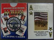 Operation Iraqi Freedom U.S. Military Heroes Playing Cards ~ 2 NEW UNUSED DECKS