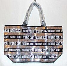 Victoria's Secret Tote Bag Purse Silver Black Sequin 2pc