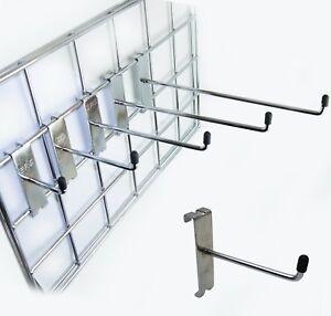 "Grid wall   Mesh Panel HOOKS Arm Shop Display Fitting Prong 4"" 6"" 8"" 10"" 12"