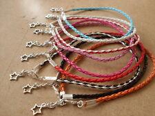 braided leather anklet/ankle bracelet hippy boho festival funky summer beach
