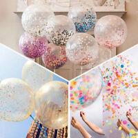 """12 """" Or Blanc feuille confettis ballons en latex Helium mariage fête Party décor"""