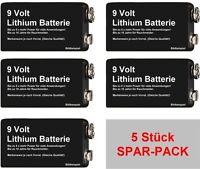 10 x Lithium 9V Batterie für Rauchmelder u.a. - s.g. 10 Jahresbatterien - KOL3