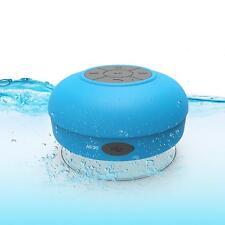 Portable Wireless Bluetooth Waterproof Shower Mini Music Speaker Stereos Blue