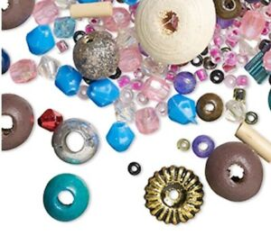 500+Pc. VINTAGE BEADS~ Mix Colors & Shapes In wood, Glass & Acrylic U.S SELLER!