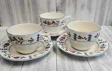 NIKKO Cup and Saucer PROVINCIAL DESIGNS Coffee Tea Set of 3 Made in Japan