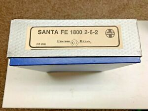 CUSTOM BRASS SANTA FE 1800 2-6-2 HO SCALE TRAIN