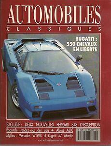 AUTOMOBILES CLASSIQUES 45 BUGATTI EB110 MERCEDES W196R FERRARI 348 ALPINE A610