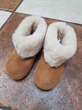 Le Ragazze Stivali Da M&S Nuova Taglia 5 (21.5) Real stivali di pelle di pecora molto caldo