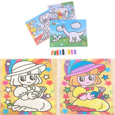 DIY Sand Painting Drawing Coloring Toys Kids Learning Education Toy rw